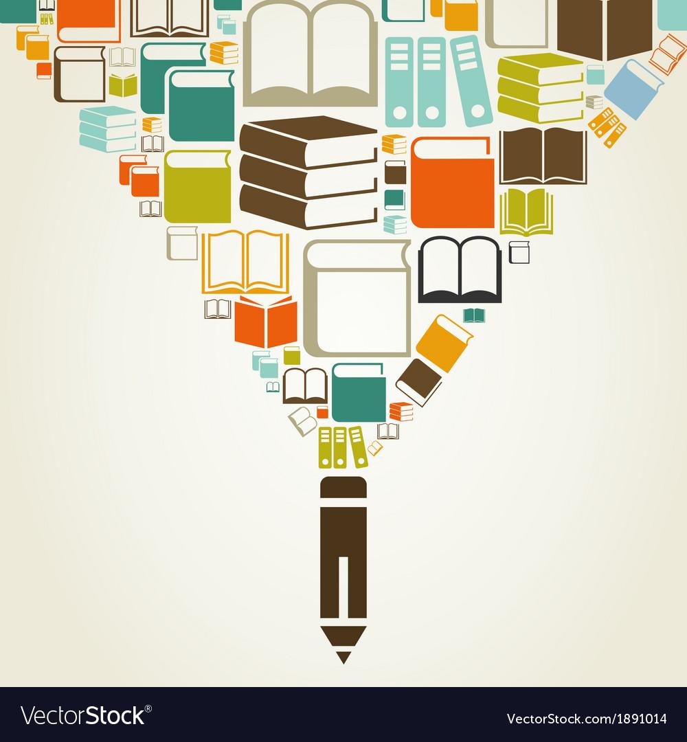 Book a pencil vector | Price: 1 Credit (USD $1)