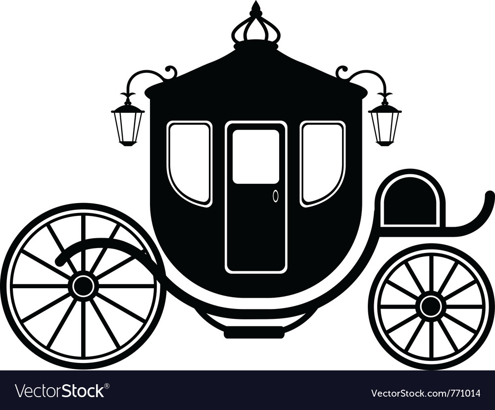 Carriage silhouettte vector | Price: 1 Credit (USD $1)