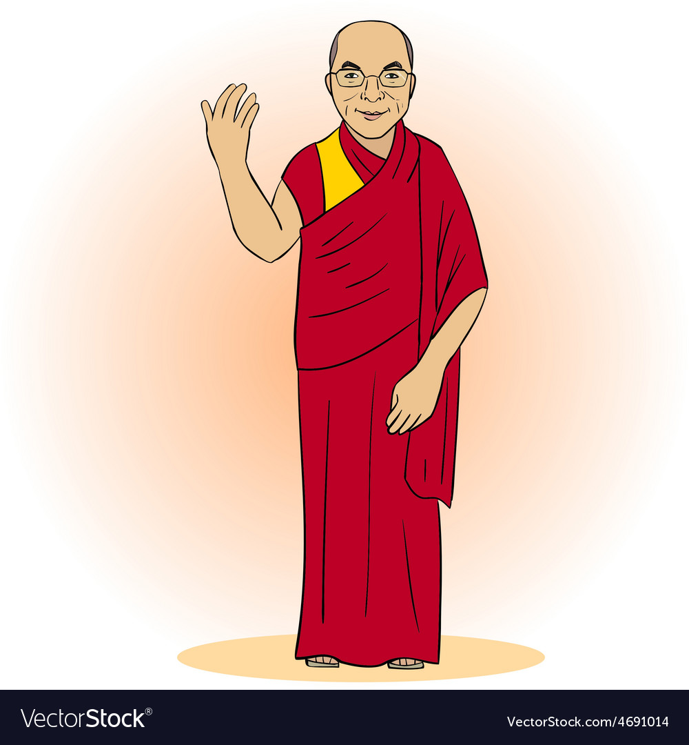 Cartoon figure of buddhist monk vector | Price: 1 Credit (USD $1)