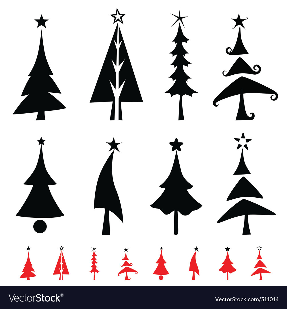 Christmas pine tree vector | Price: 1 Credit (USD $1)