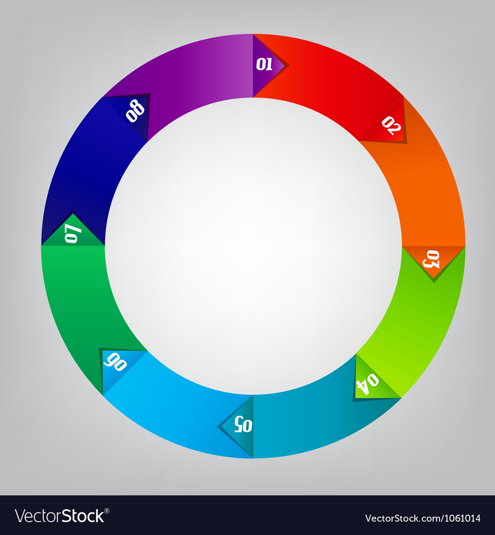 Colorful circular banners vector | Price: 1 Credit (USD $1)