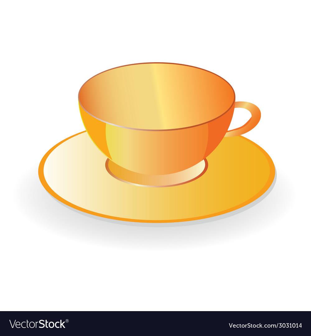 Cup for coffee in orange color vector | Price: 1 Credit (USD $1)