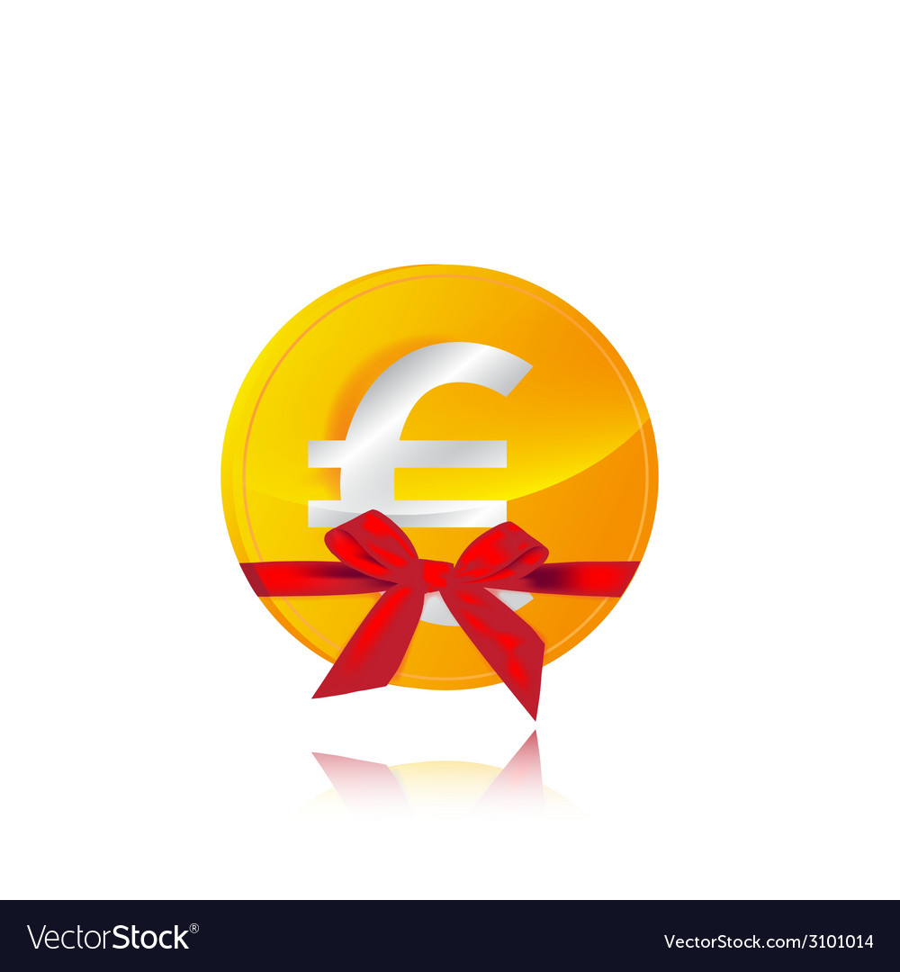 Euro coin gift vector | Price: 1 Credit (USD $1)