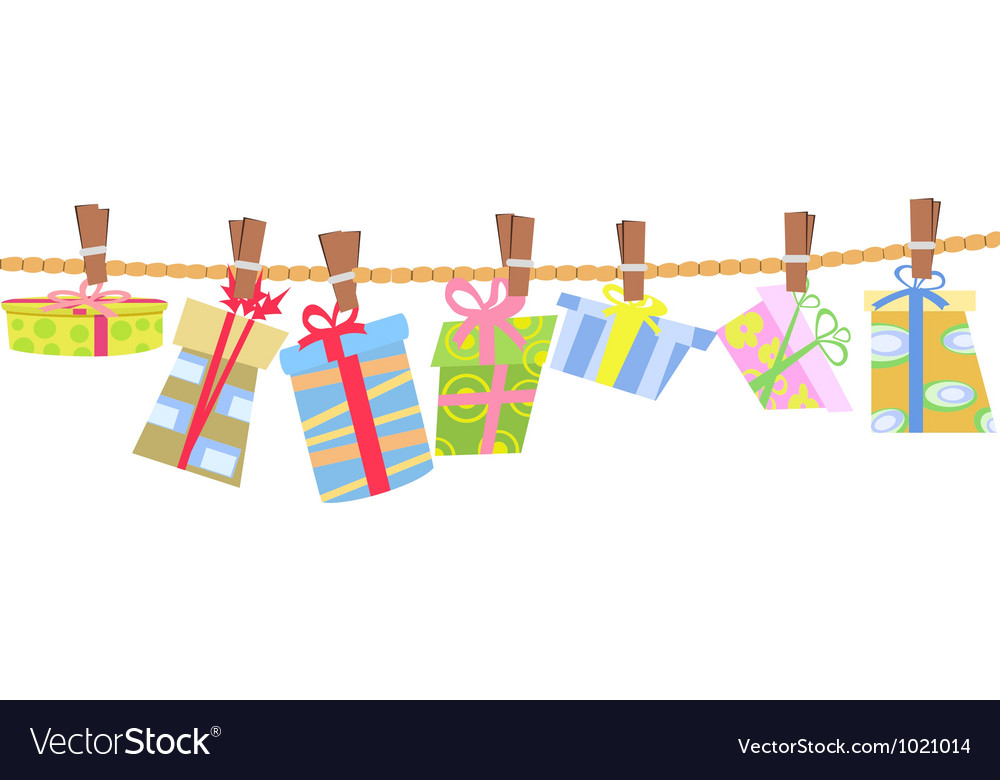 Hanging gift box vector | Price: 1 Credit (USD $1)