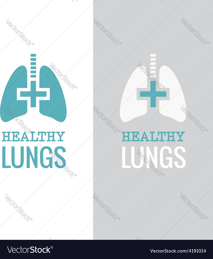 Healthy lungs vector | Price: 1 Credit (USD $1)
