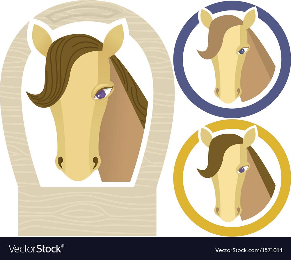 Horse muzzle vector | Price: 1 Credit (USD $1)