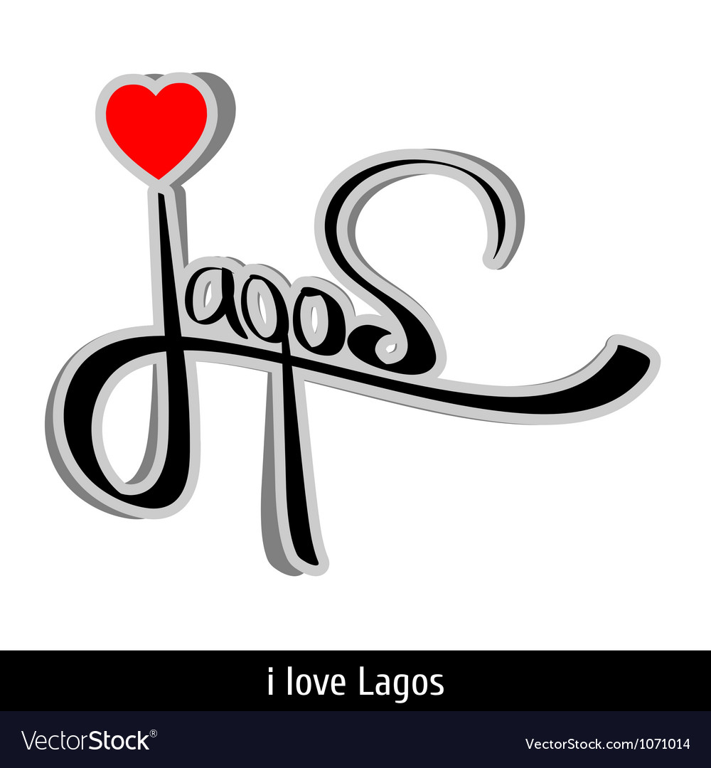 Lagos greetings hand lettering calligraphy vector | Price: 1 Credit (USD $1)