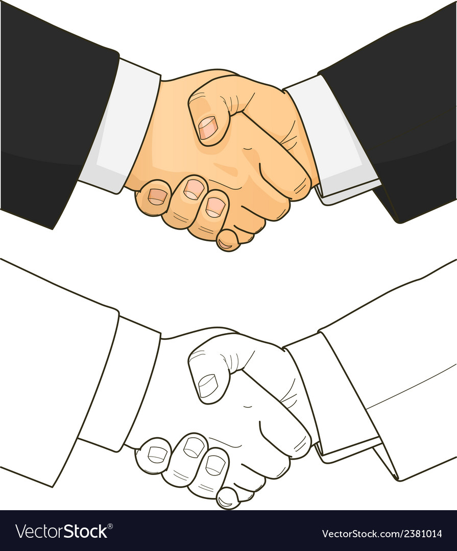 Male handshake vector | Price: 1 Credit (USD $1)