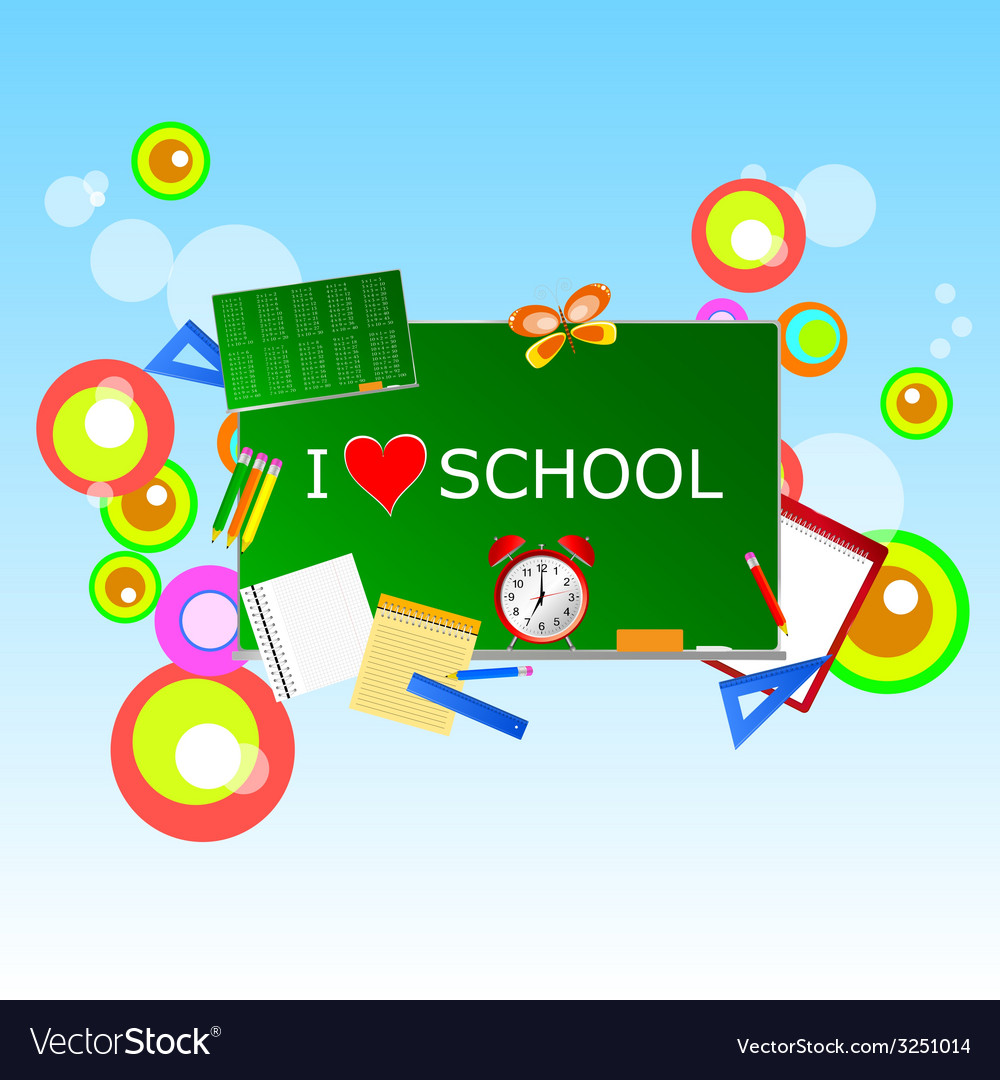 School green table with symbol vector   Price: 1 Credit (USD $1)