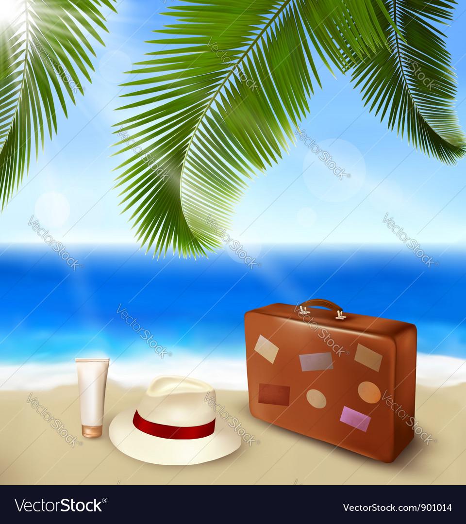 Summer beach tourism vector | Price: 3 Credit (USD $3)