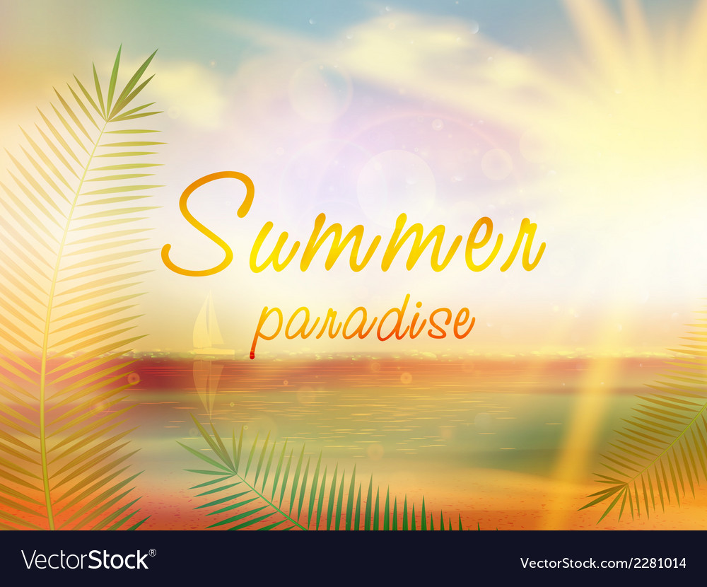 Summer paradise creative summer design vector | Price: 1 Credit (USD $1)