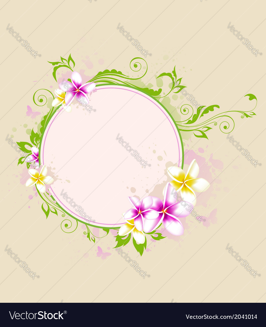 Tropical banner with flowers vector | Price: 1 Credit (USD $1)