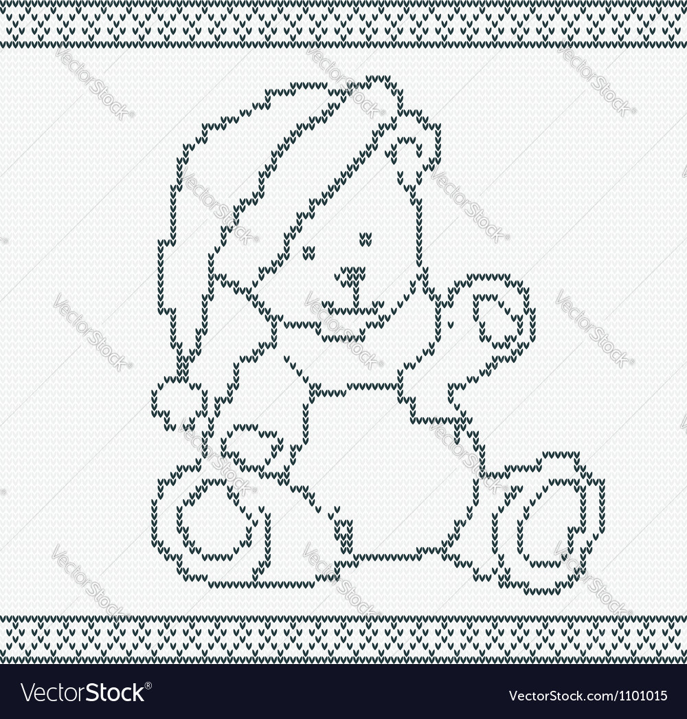 A knitted bear vector | Price: 1 Credit (USD $1)