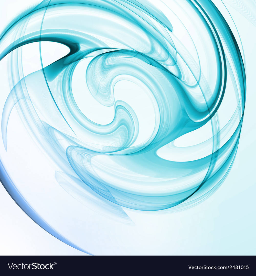 Abstract blue wave background vector | Price: 1 Credit (USD $1)