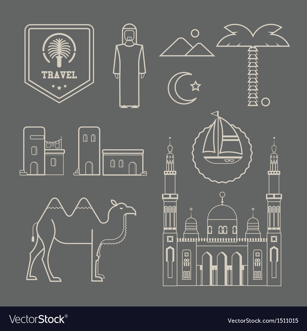 Arabic icons vector | Price: 3 Credit (USD $3)