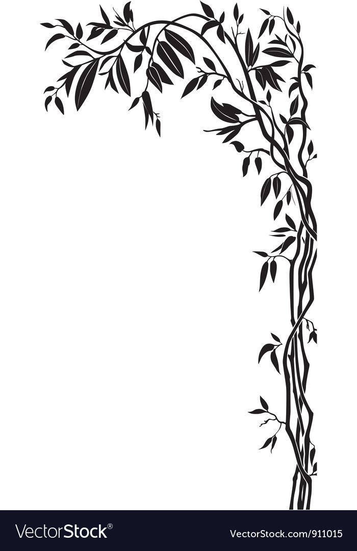 Branch with leaves vector | Price: 1 Credit (USD $1)