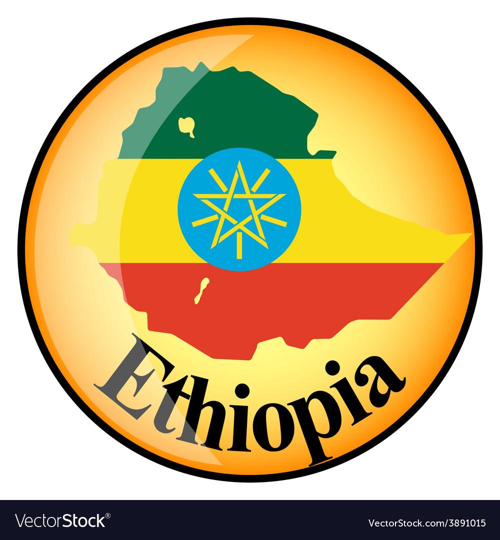 Button ethiopia vector | Price: 1 Credit (USD $1)