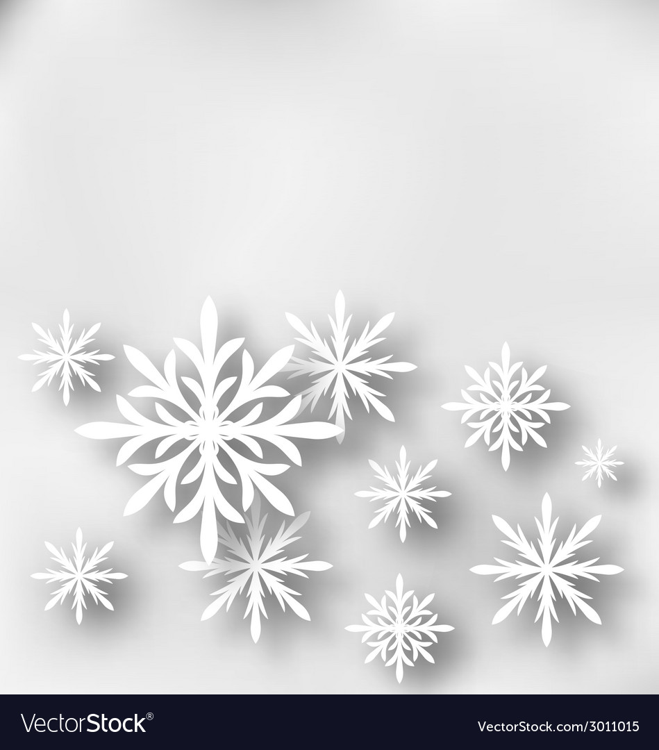 Christmas greeting card with paper snowflakes vector | Price: 1 Credit (USD $1)
