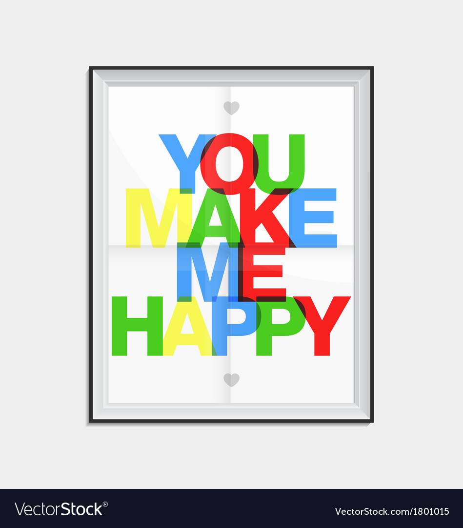 Love concept typographical poster vector | Price: 1 Credit (USD $1)