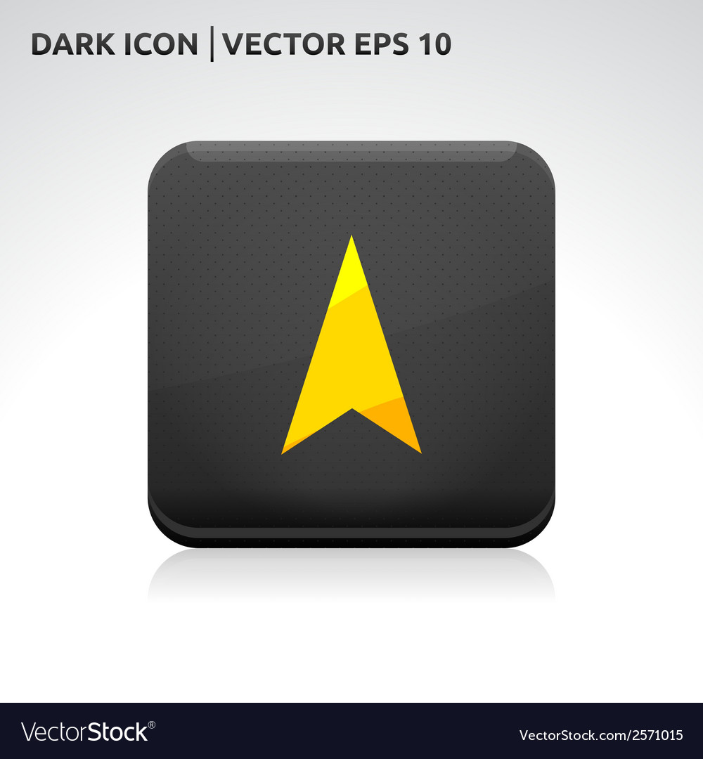 Navigation gps arrow icon gold vector | Price: 1 Credit (USD $1)