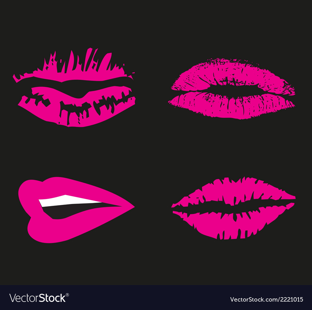 Pink lips logo icon symbol free vector | Price: 1 Credit (USD $1)
