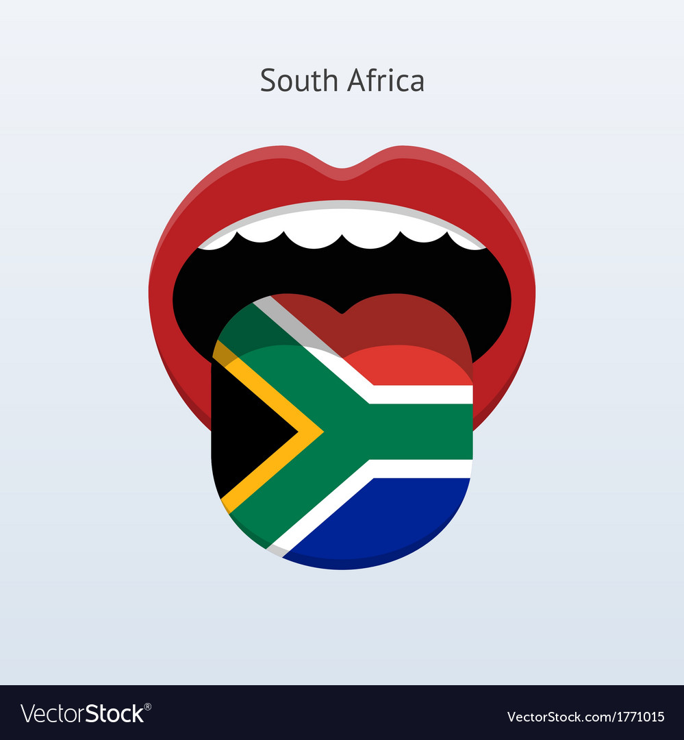 South africa language abstract human tongue vector | Price: 1 Credit (USD $1)