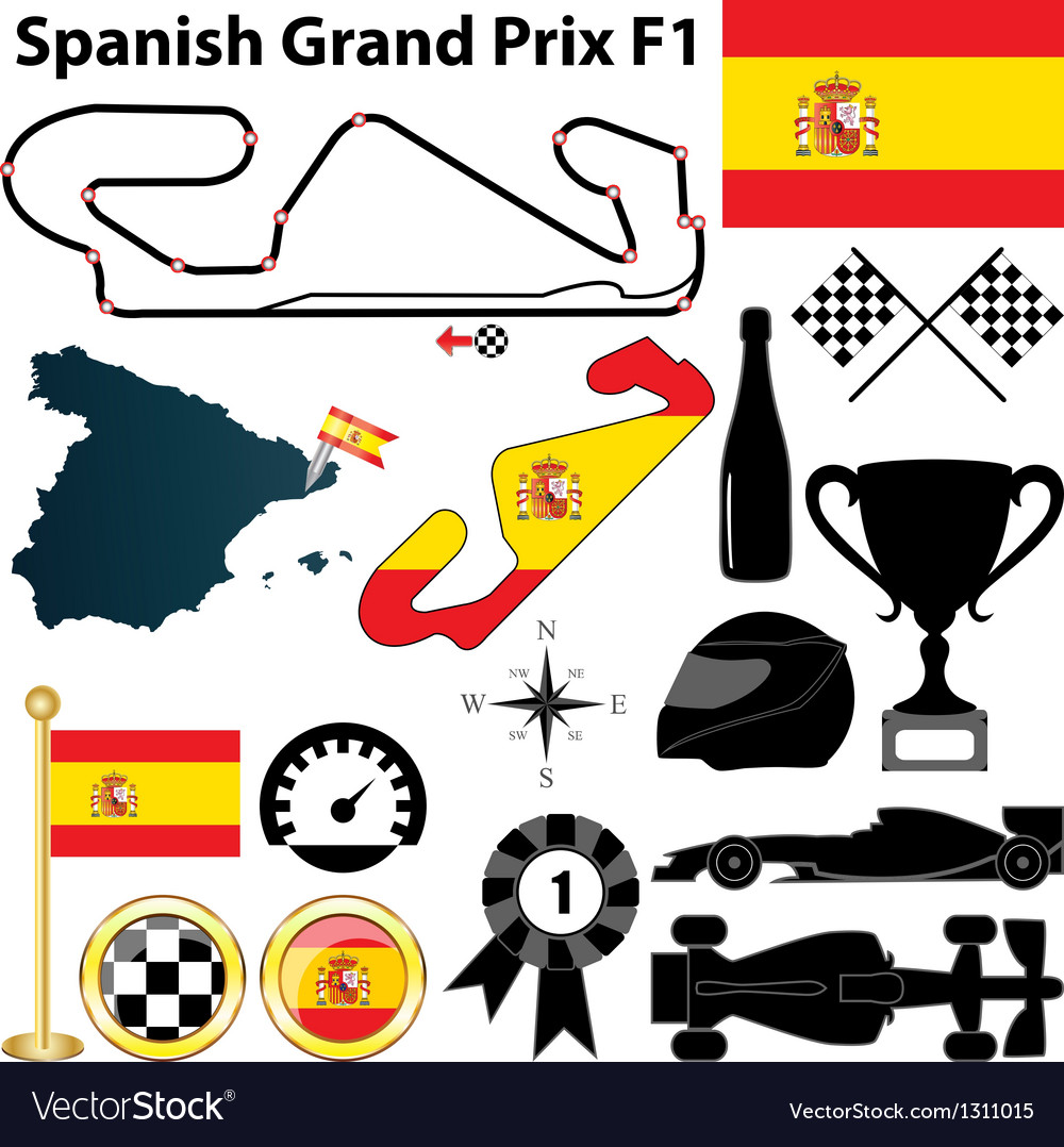 Spanish grand prix f1 vector | Price: 1 Credit (USD $1)