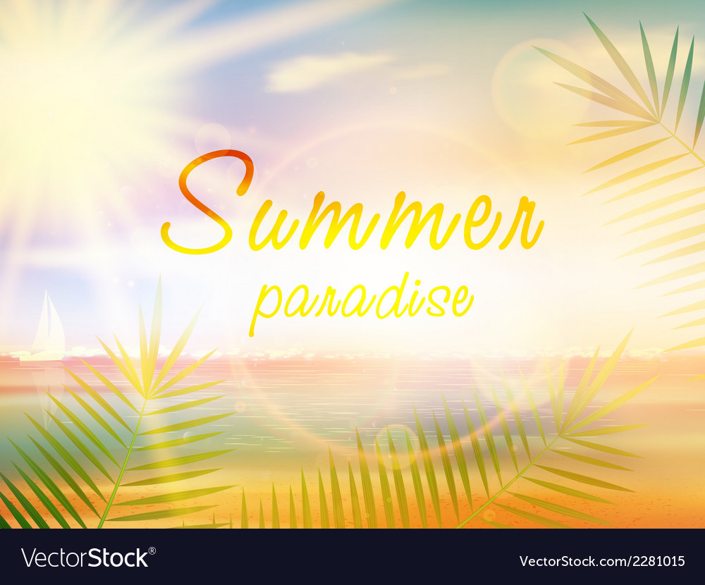 Summer holidays - typographic design template vector | Price: 1 Credit (USD $1)