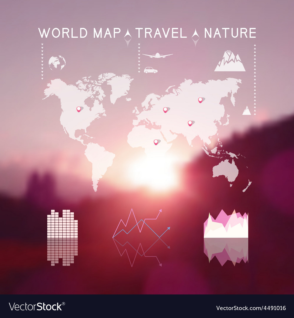 Blurred natural landscape vector | Price: 1 Credit (USD $1)