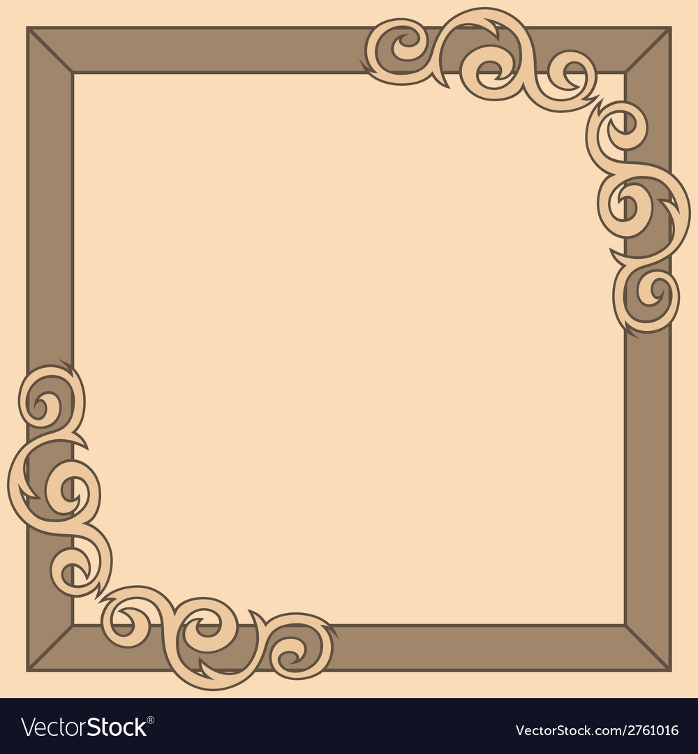 Brown decorative ornate frame vector | Price: 1 Credit (USD $1)