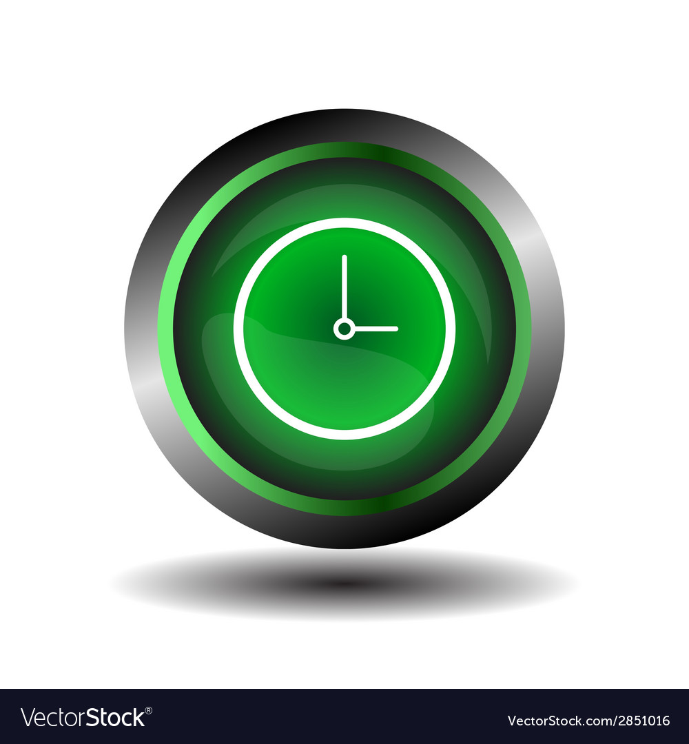Clock icon symbol glossy vector | Price: 1 Credit (USD $1)