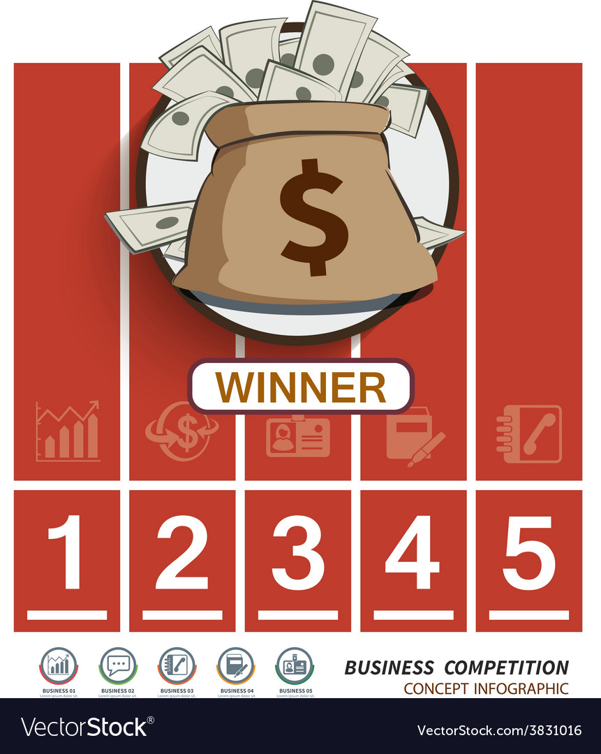 Competition business in racetrack vector | Price: 1 Credit (USD $1)