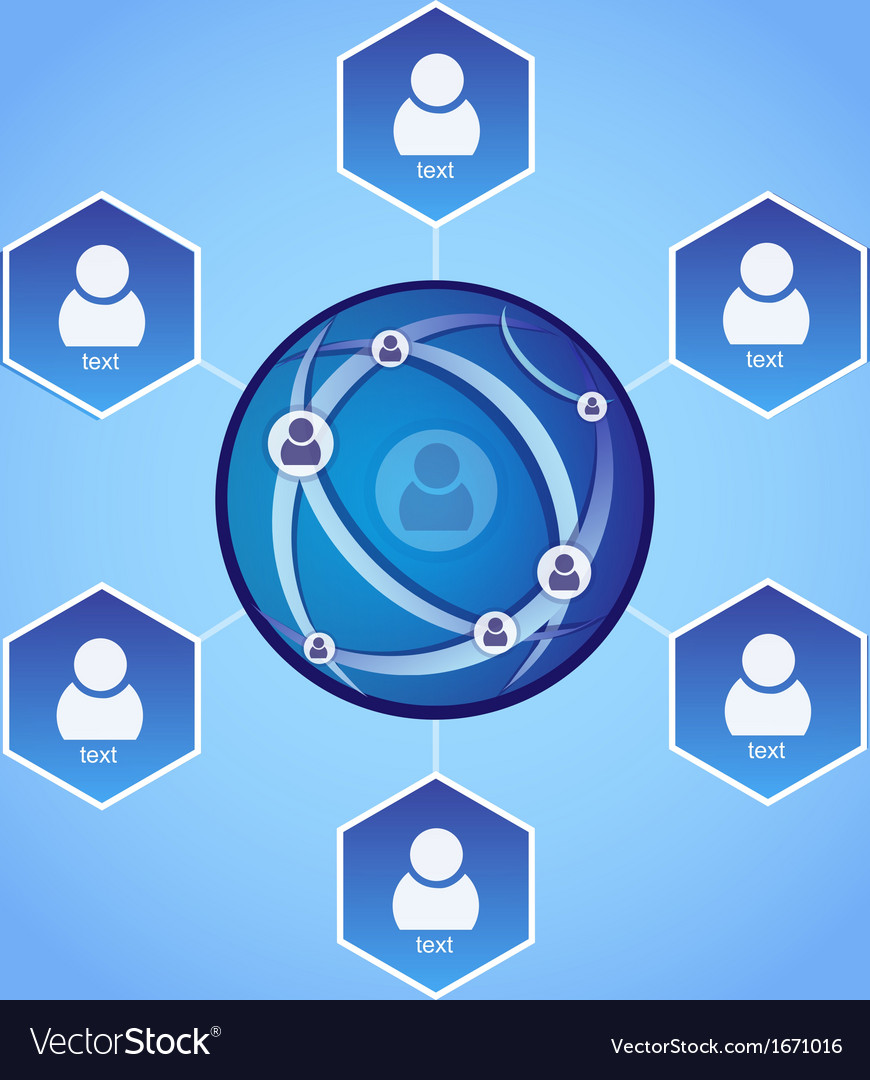 Connecting people - network concept vector   Price: 1 Credit (USD $1)