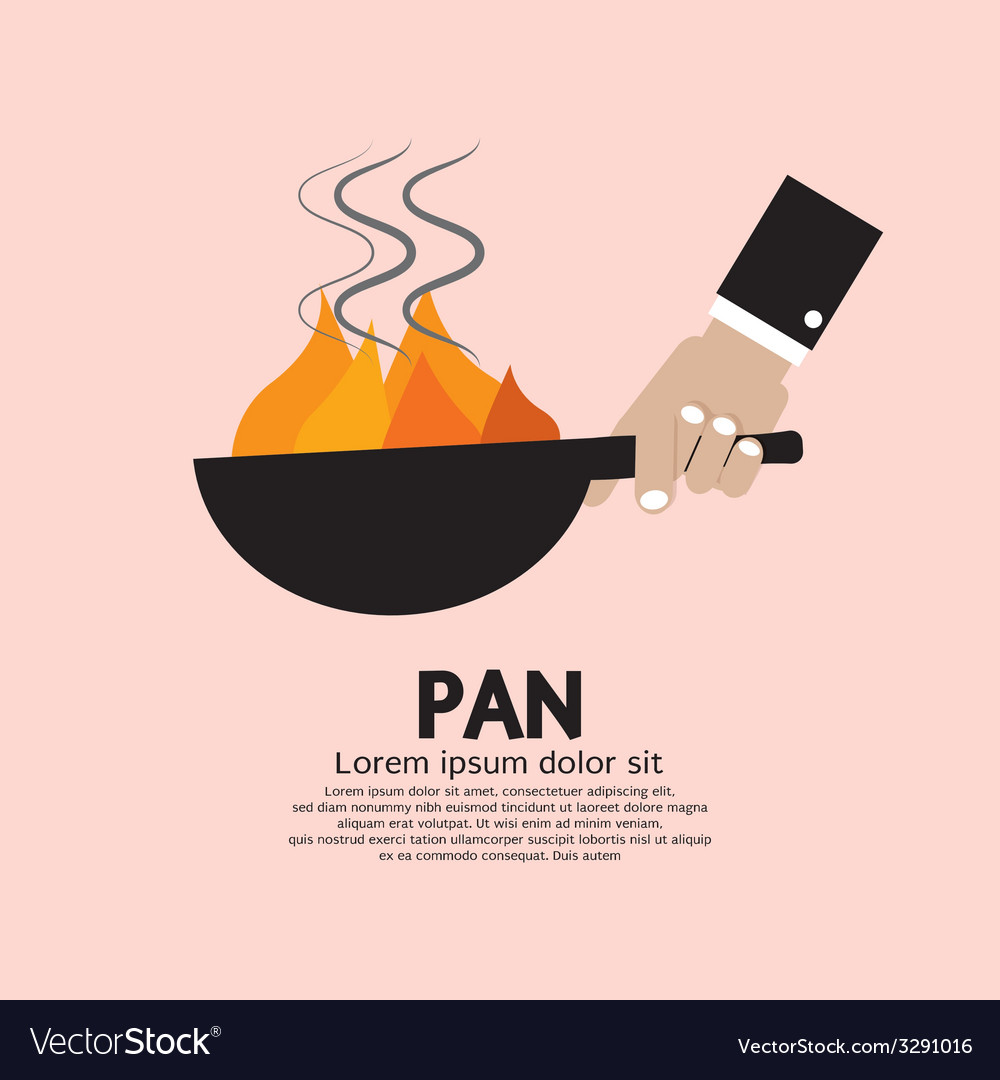 Cooking with frying pan vector | Price: 1 Credit (USD $1)