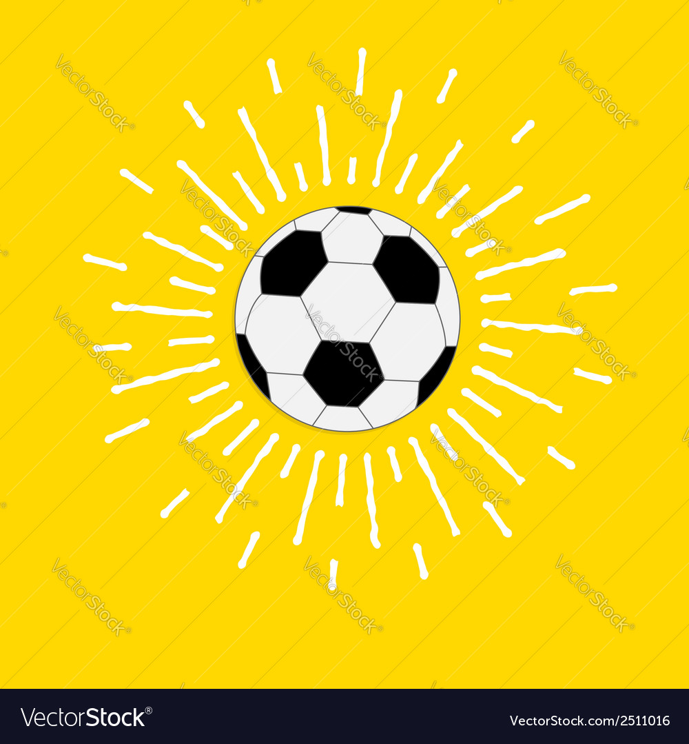 Football soccer ball with shining sunlight effect vector | Price: 1 Credit (USD $1)