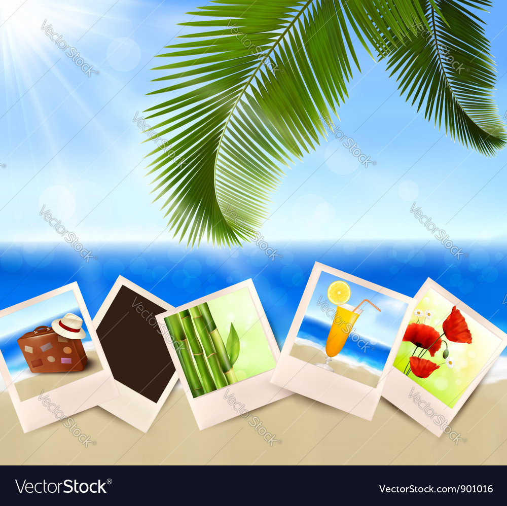 Photos from holidays on a seaside vector | Price: 3 Credit (USD $3)