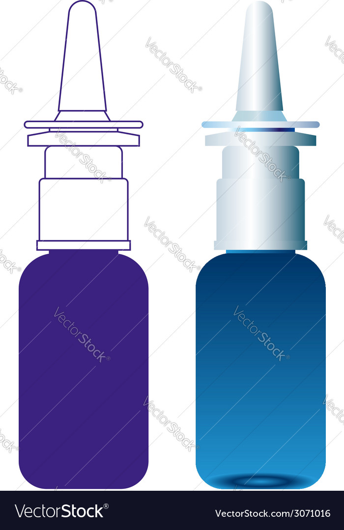 Spray medical nasal antiseptic drugs plastic vector | Price: 1 Credit (USD $1)