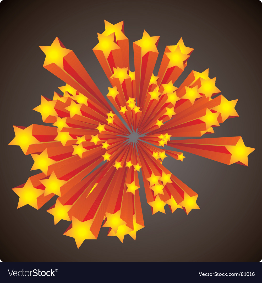 Stars explosion vector | Price: 1 Credit (USD $1)