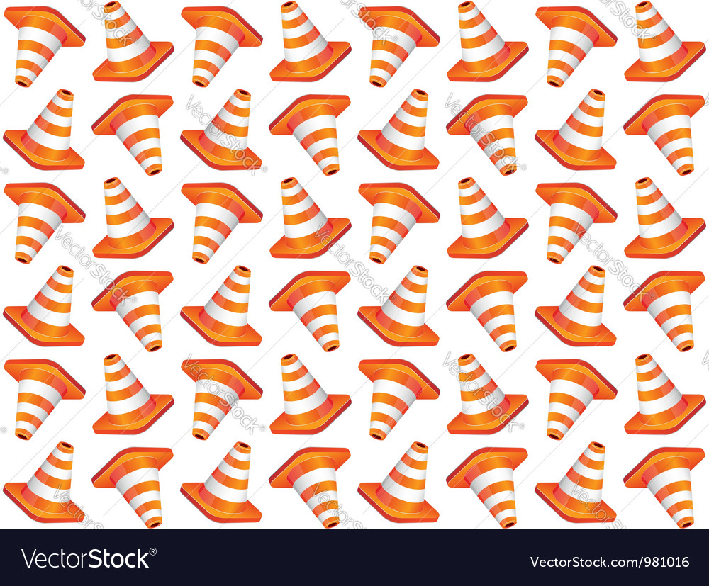 Traffic cones seamless background vector | Price: 1 Credit (USD $1)