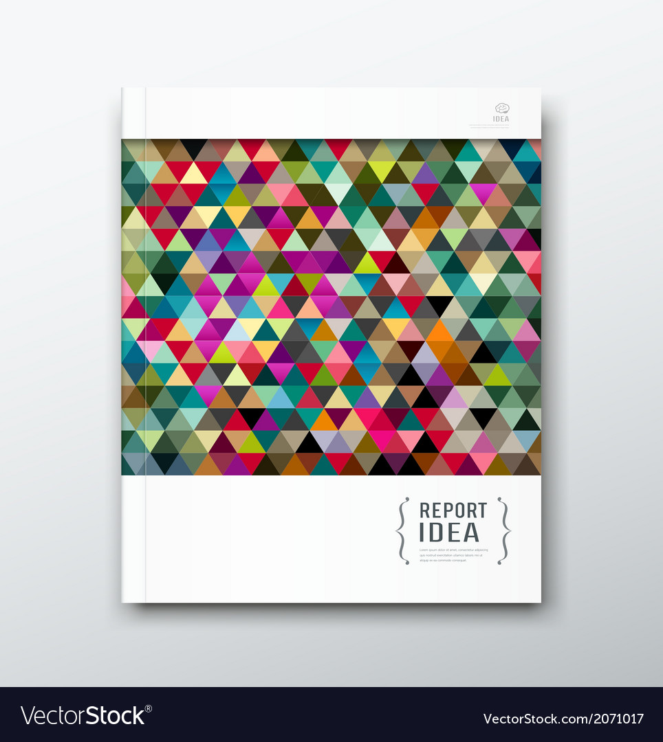Annual report abstract colorful triangle geometric vector | Price: 1 Credit (USD $1)
