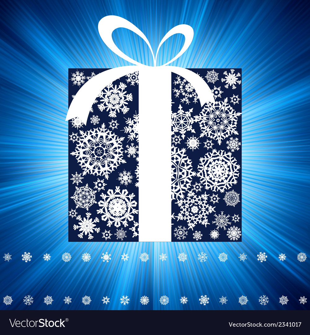 Blue burst with gift box eps 8 vector | Price: 1 Credit (USD $1)