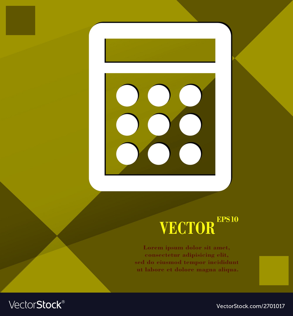Calculator flat modern web design on a flat vector   Price: 1 Credit (USD $1)