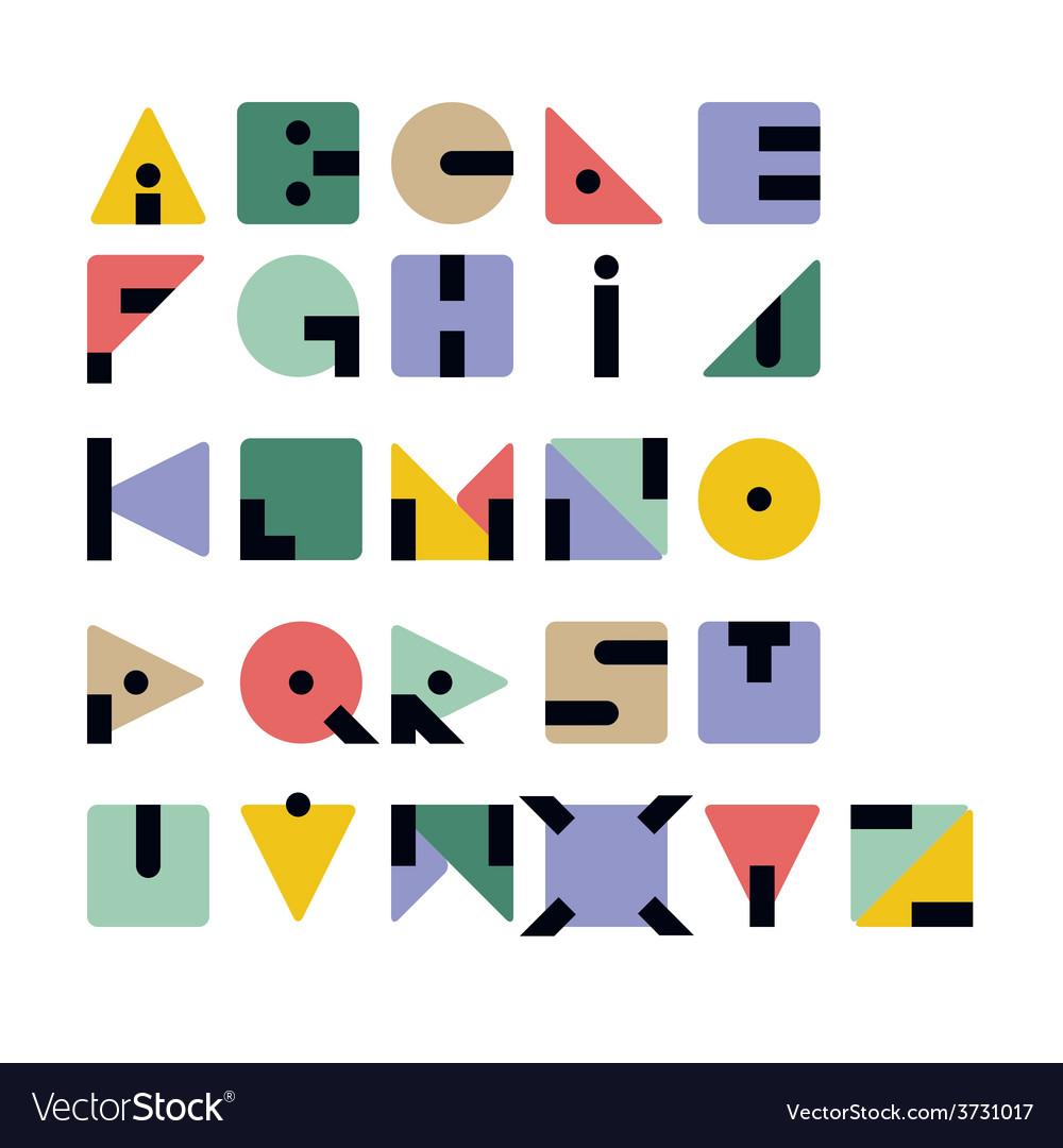 Geometric retro typeface vector | Price: 1 Credit (USD $1)