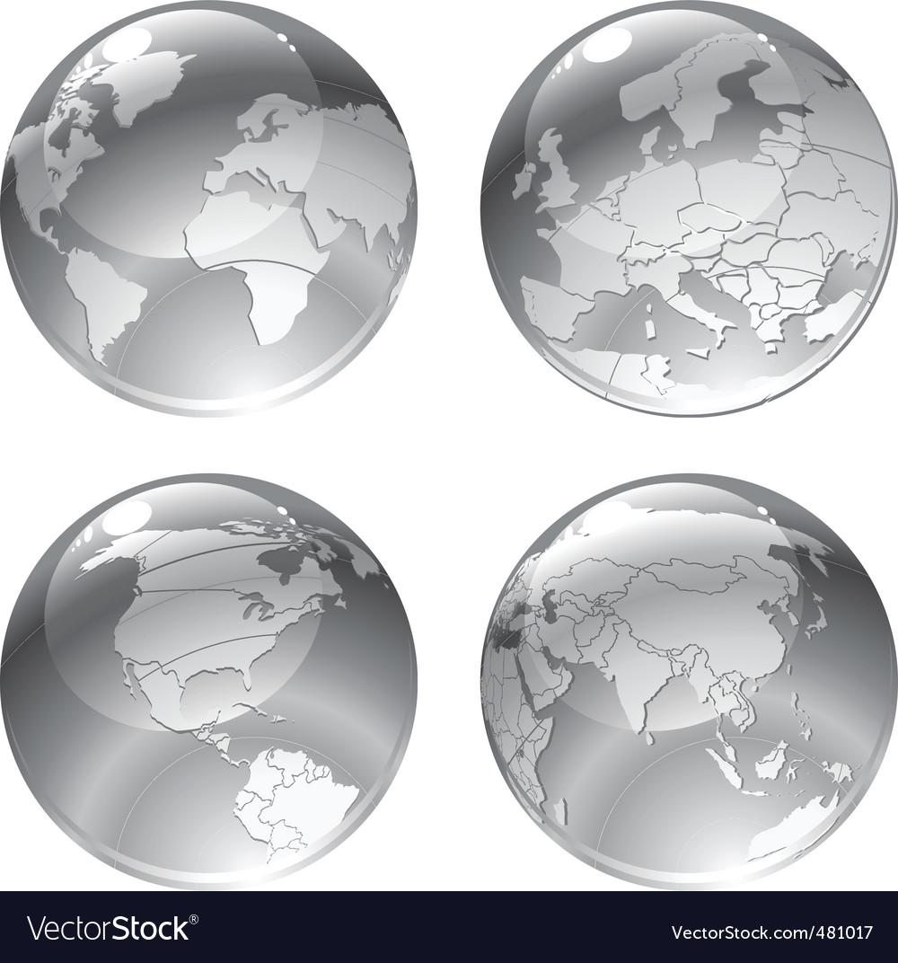 Globe icons vector