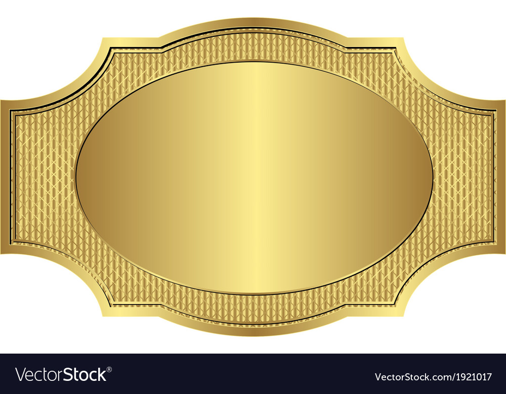 Gold frame vector | Price: 1 Credit (USD $1)