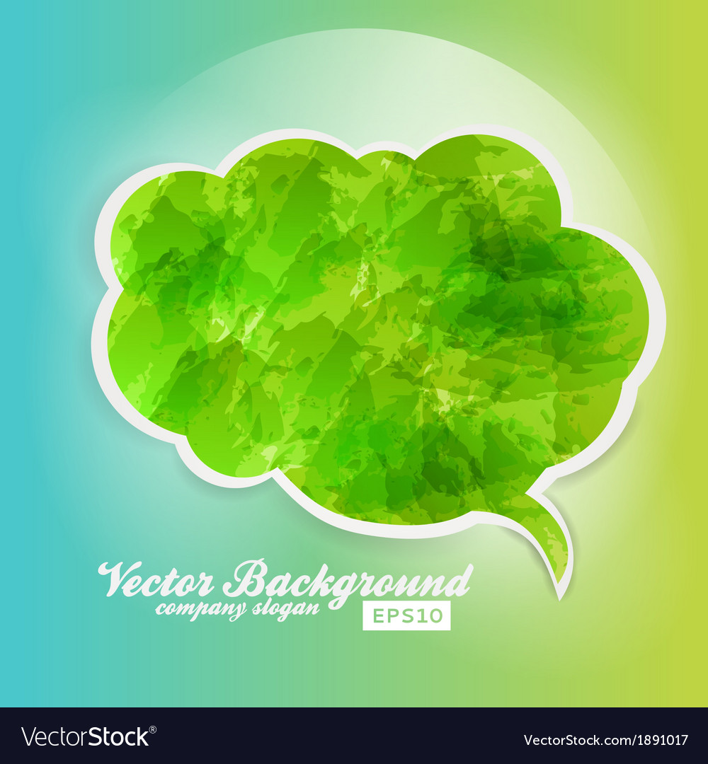 Grunge speech bubble background green vector | Price: 1 Credit (USD $1)