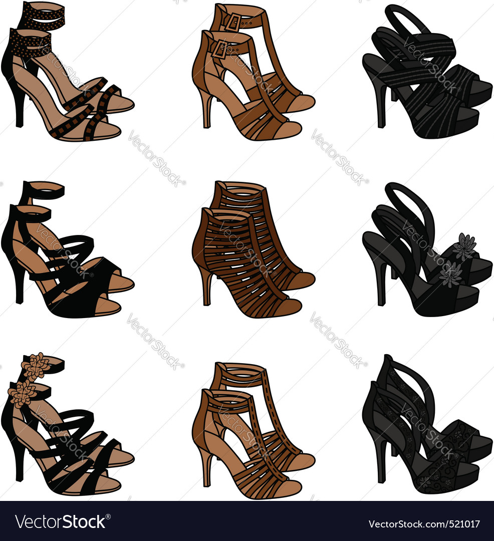 Highheeled sandals vector | Price: 1 Credit (USD $1)