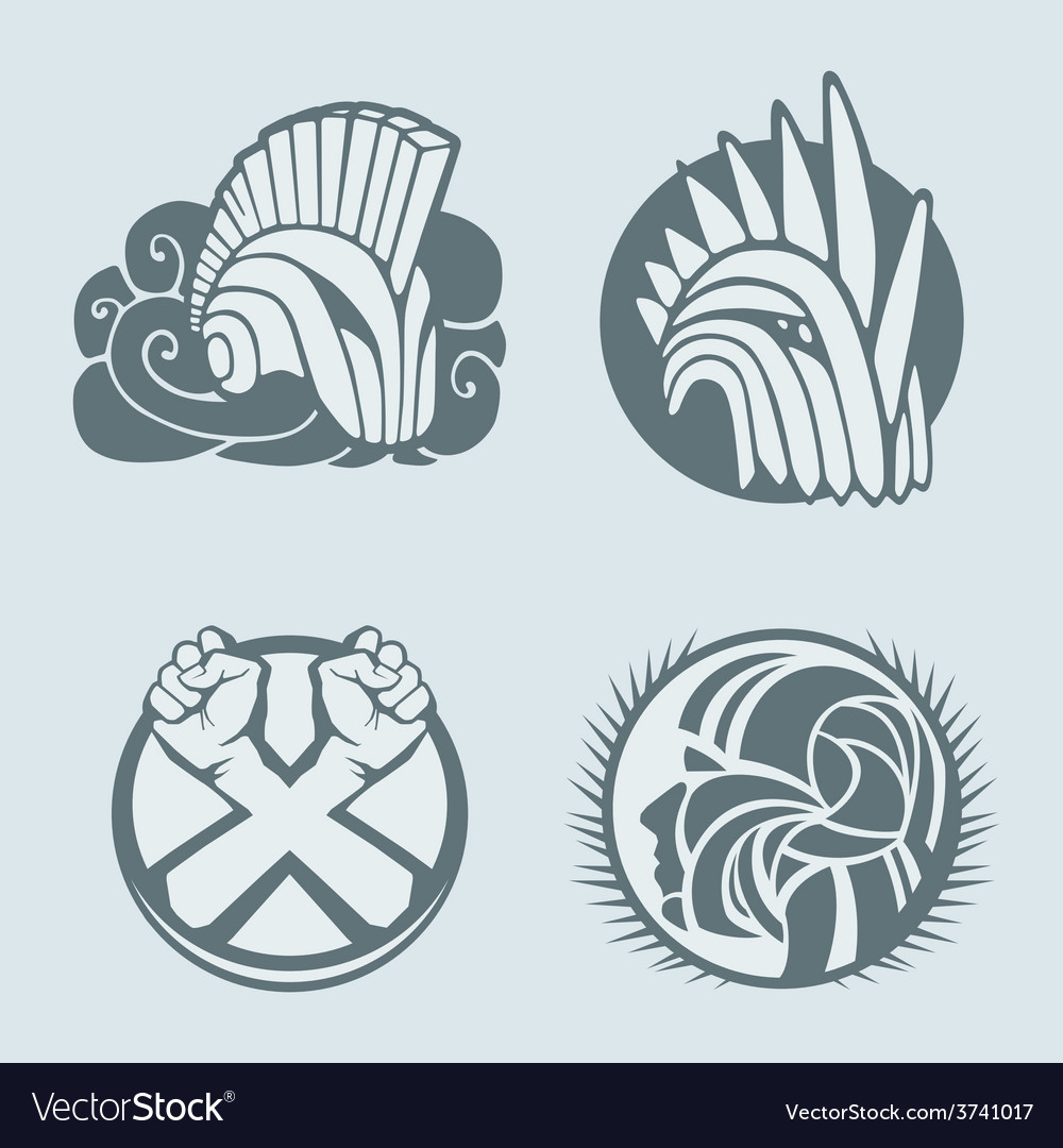 Knight helmet logo template vector | Price: 1 Credit (USD $1)
