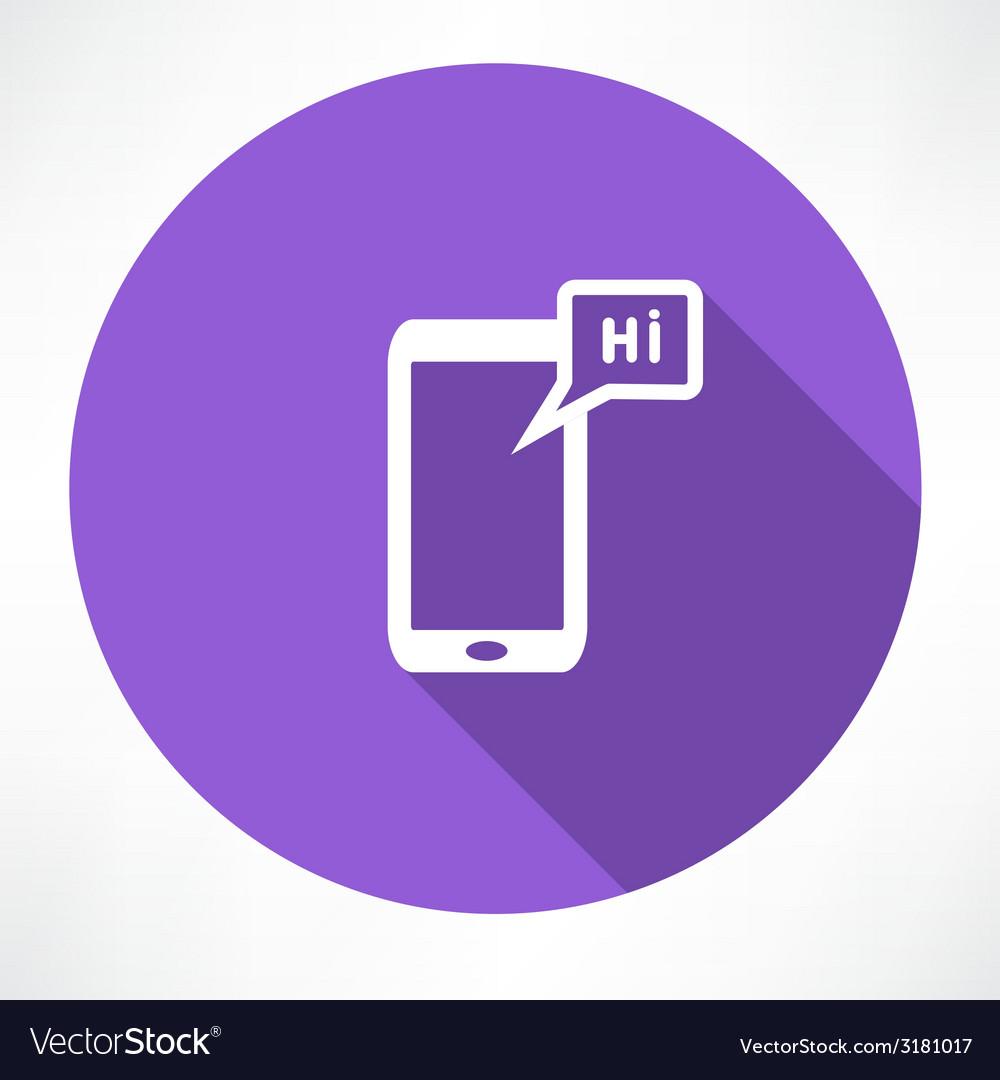 Phone icon vector | Price: 1 Credit (USD $1)