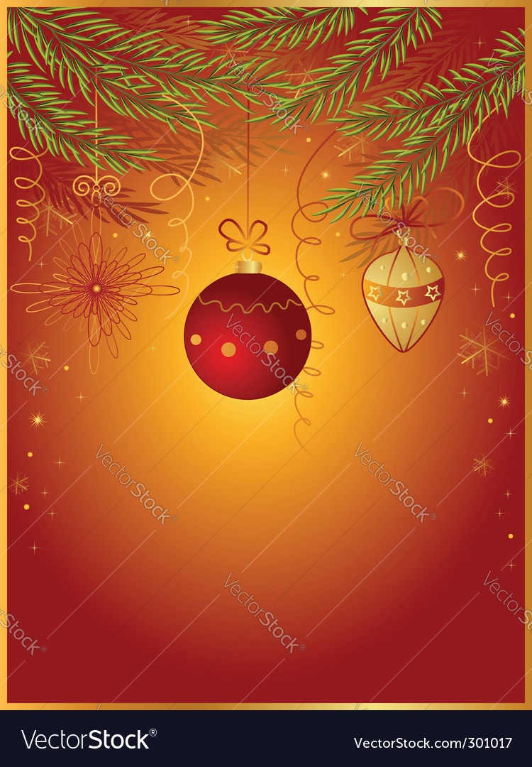 Red christmas background with fir vector | Price: 1 Credit (USD $1)
